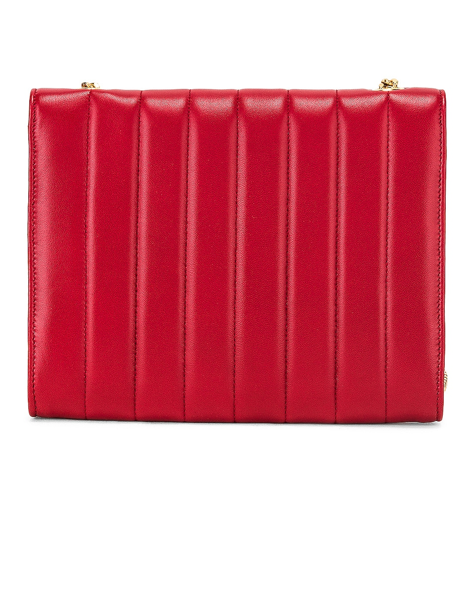 Image 3 of Saint Laurent Vicky Chain Wallet Bag in Rouge Eros