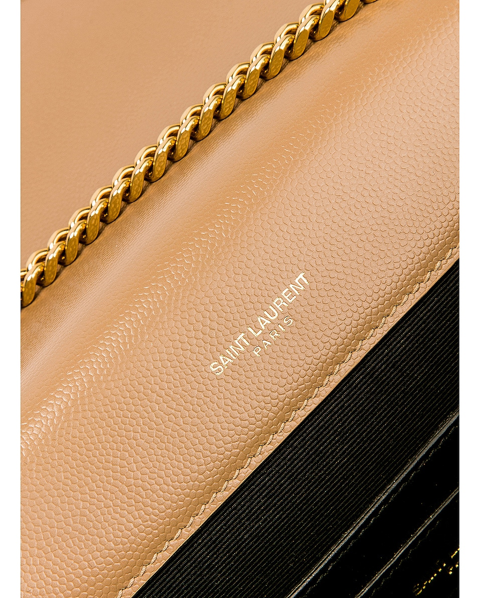 Image 7 of Saint Laurent Small Monogramme Envelope Chain Bag in Chene