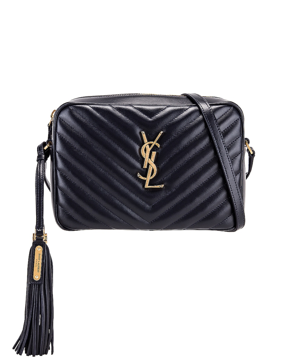 Image 1 of Saint Laurent Medium Monogramme Lou Satchel in Midnight Blue