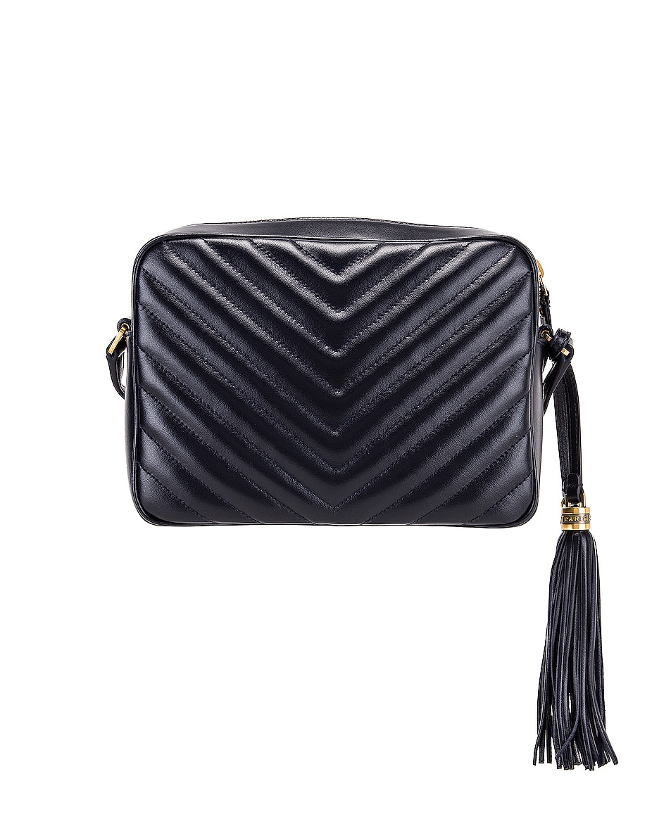 Image 3 of Saint Laurent Medium Monogramme Lou Satchel in Midnight Blue