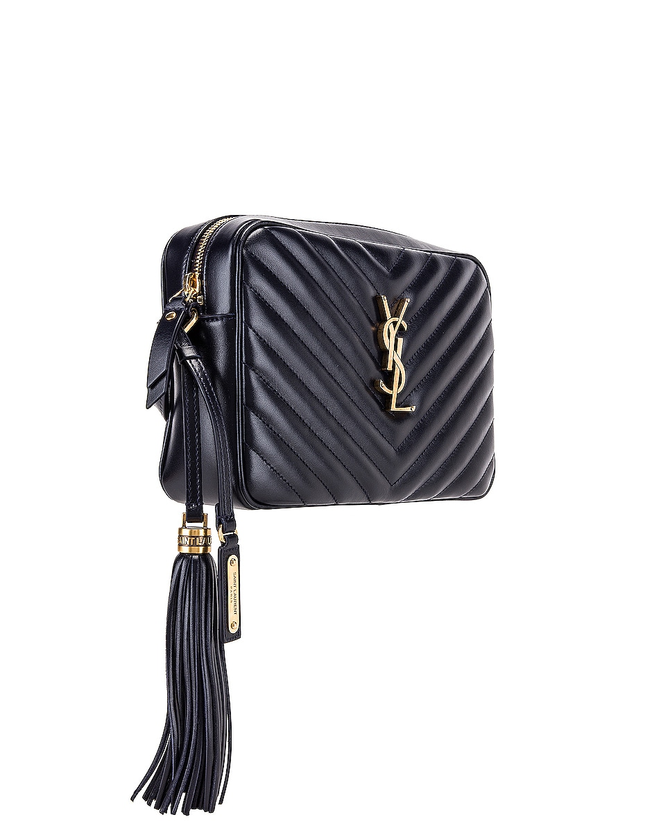 Image 4 of Saint Laurent Medium Monogramme Lou Satchel in Midnight Blue