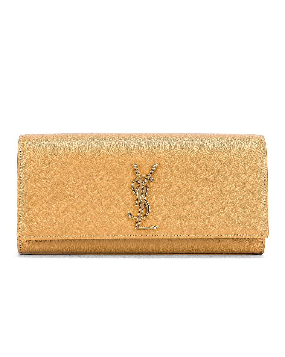Image 1 of Saint Laurent Kate Clutch in Toffee