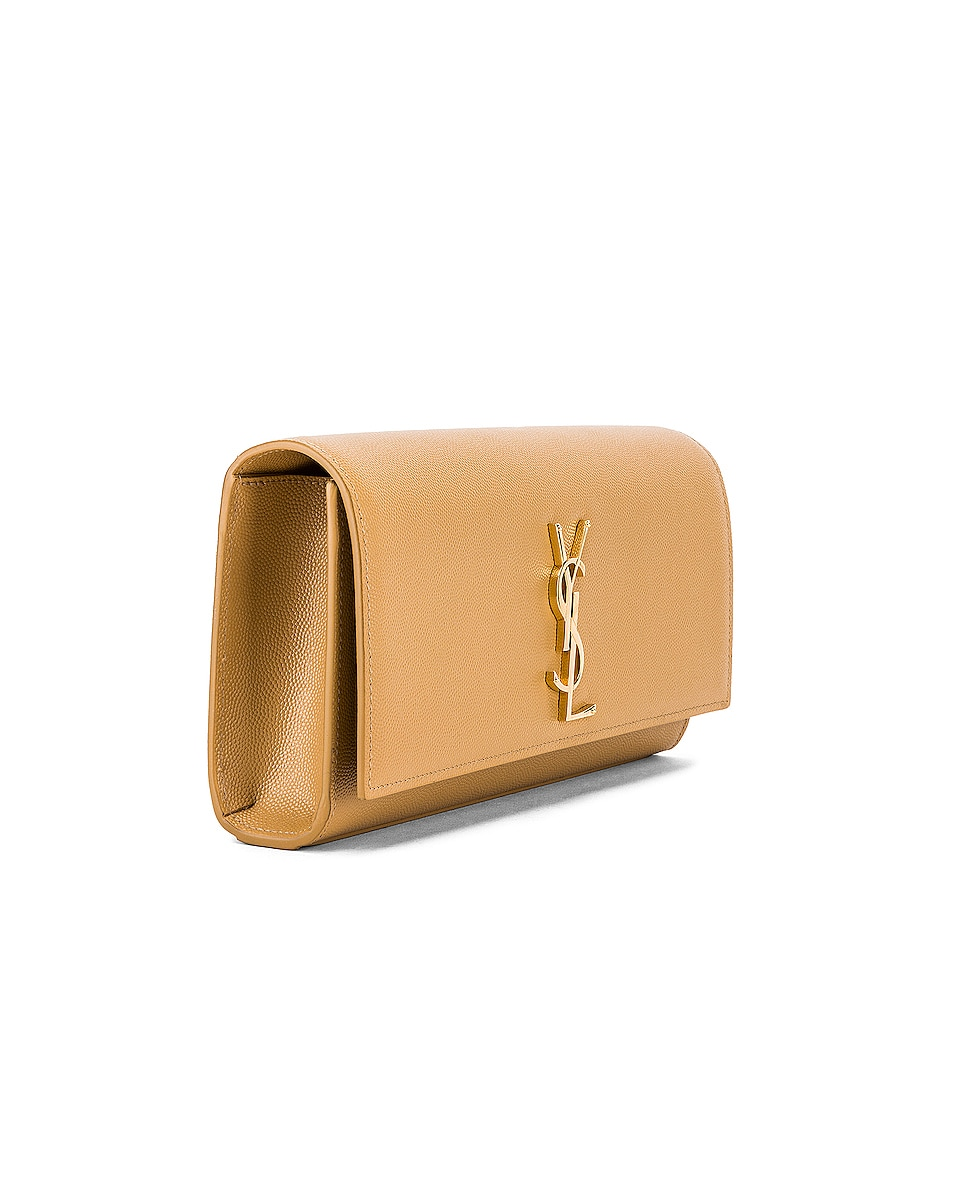 Image 4 of Saint Laurent Kate Clutch in Toffee