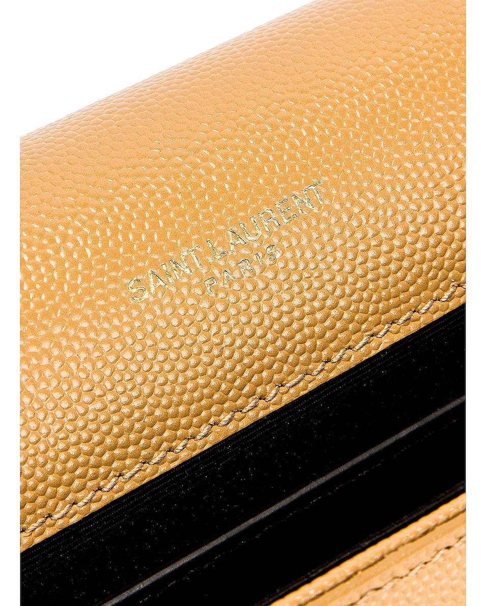 Image 6 of Saint Laurent Kate Clutch in Toffee