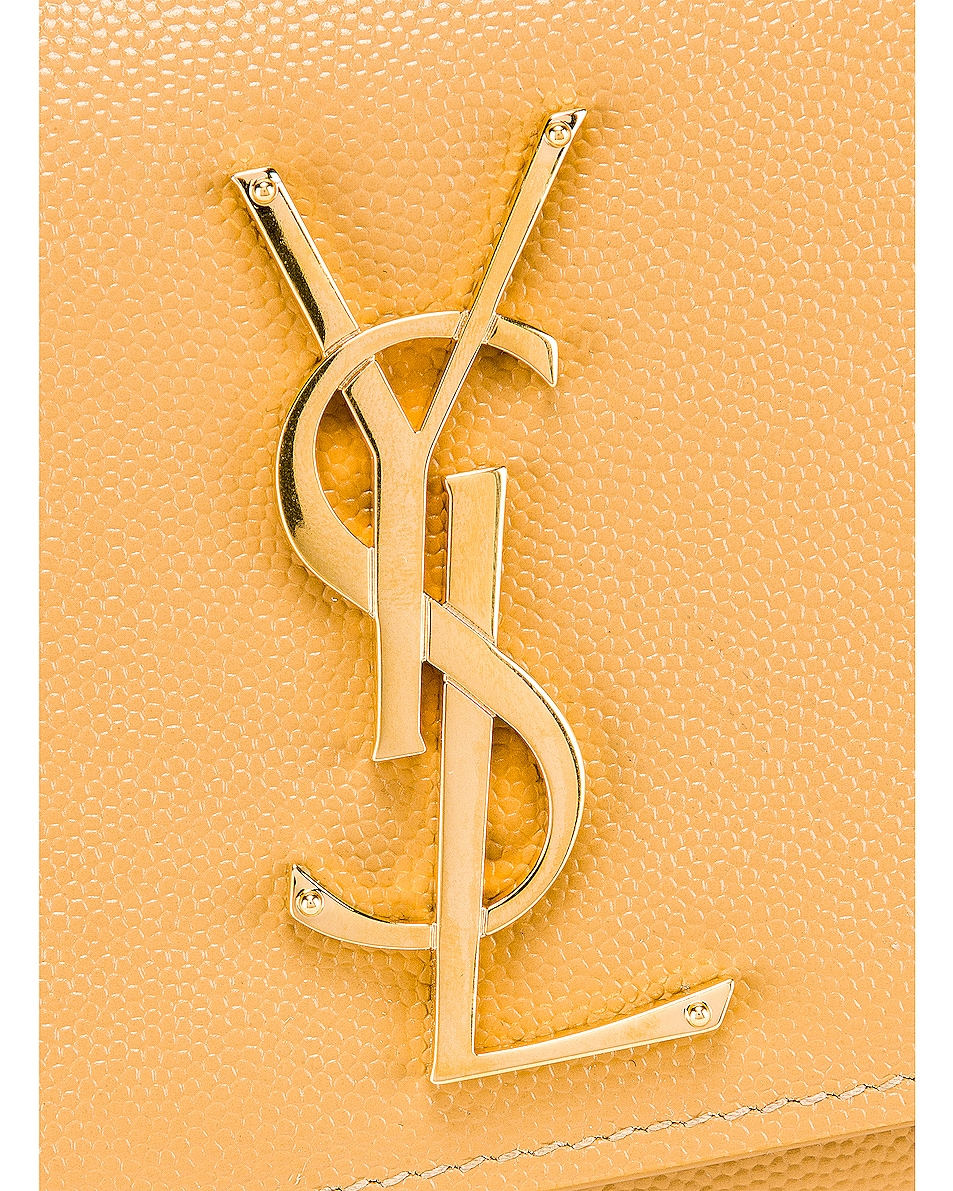 Image 7 of Saint Laurent Kate Clutch in Toffee
