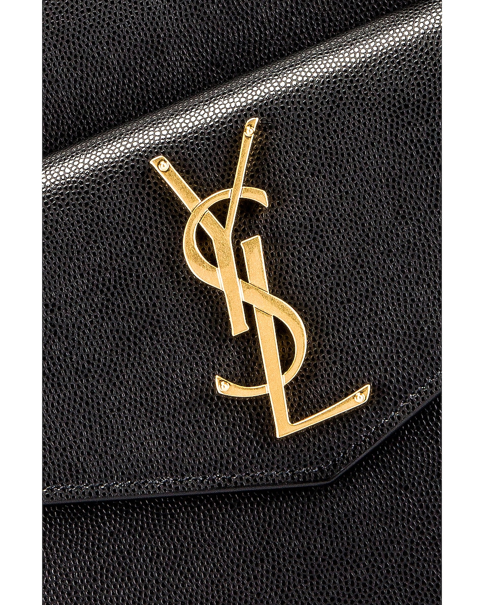 Image 3 of Saint Laurent Medium Uptown Monogramme Bag in Black