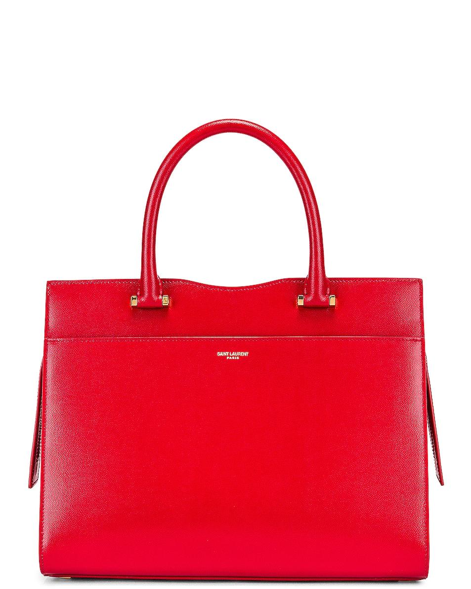 Image 1 of Saint Laurent Medium Uptown Monogramme Bag in Rouge Eros