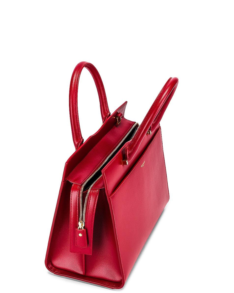 Image 4 of Saint Laurent Medium Uptown Monogramme Bag in Rouge Eros