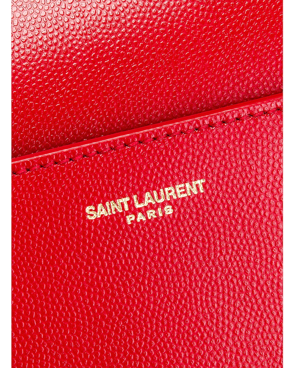 Image 7 of Saint Laurent Medium Uptown Monogramme Bag in Rouge Eros