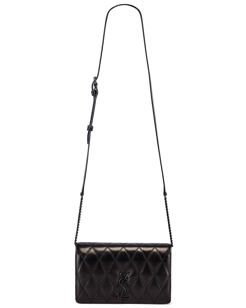Image 6 of Saint Laurent Angie Monogramme Chain Bag in Black