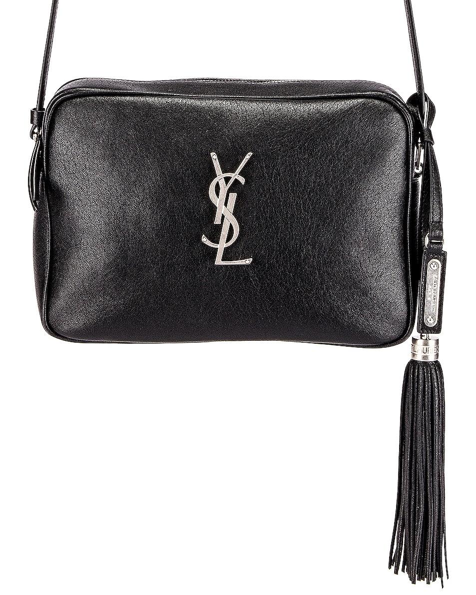Image 1 of Saint Laurent Monogramme Lou Bag in Black