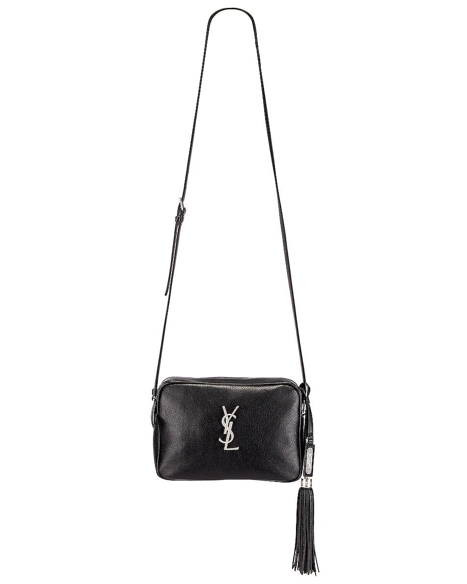 Image 2 of Saint Laurent Monogramme Lou Bag in Black