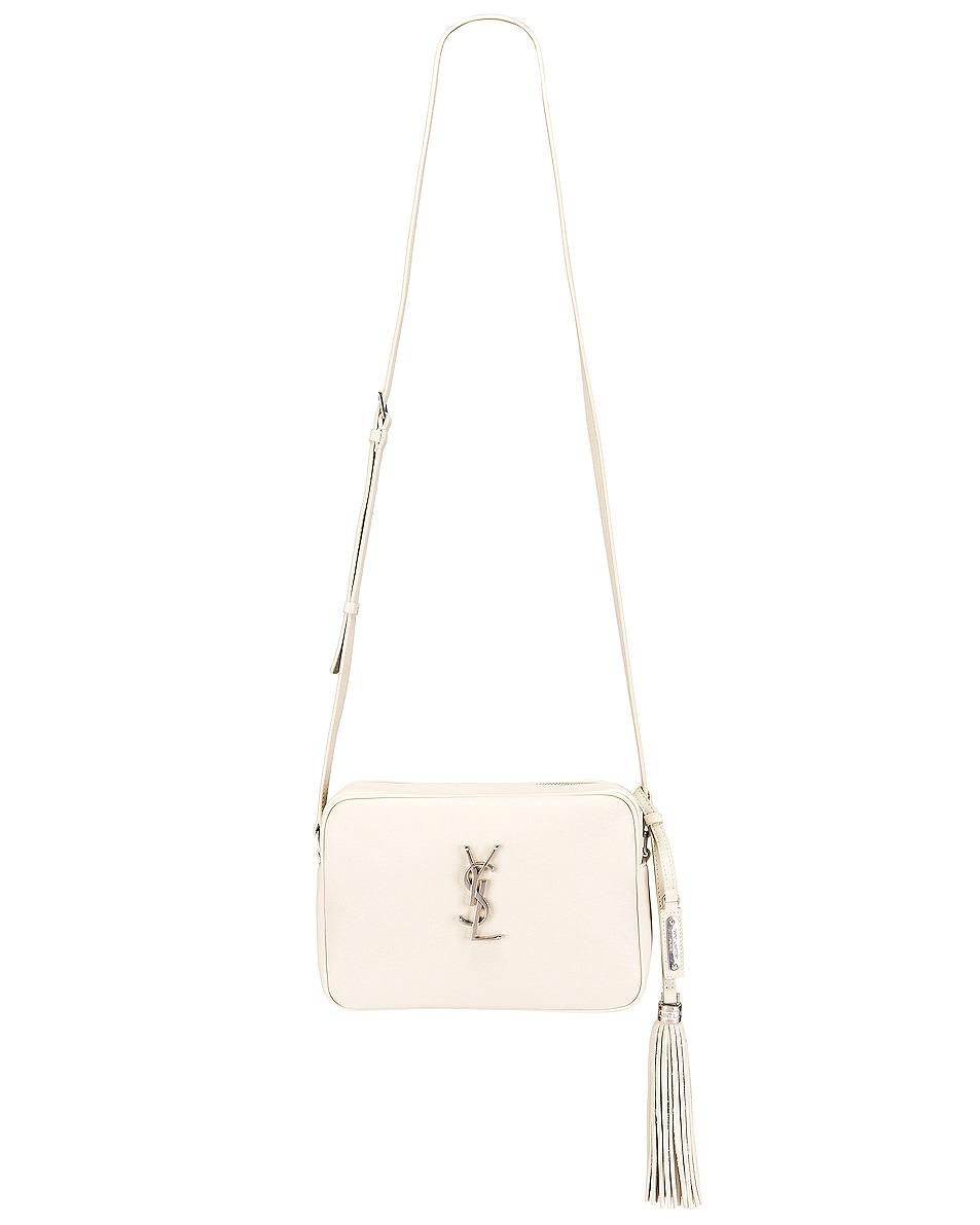 Image 2 of Saint Laurent Monogramme Lou Bag in Crema Soft