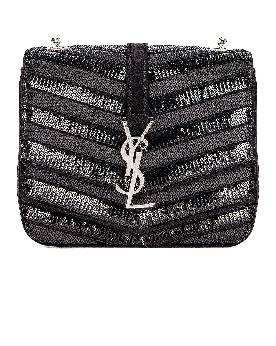 Image 1 of Saint Laurent Small Monogramme Bag in Black & Black
