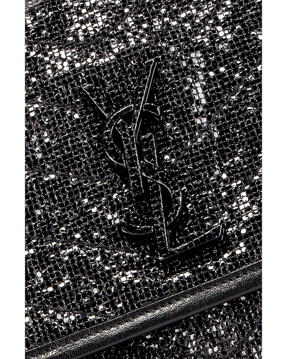 Image 2 of Saint Laurent Niki Medium Monogramme Chain Bag in Black & Black