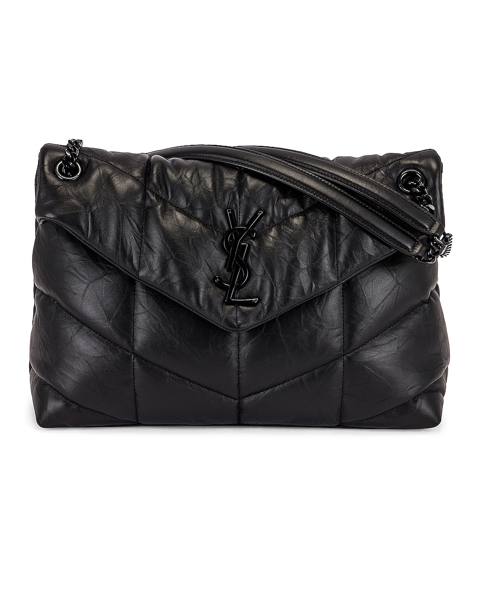 Image 1 of Saint Laurent Monogramme LouLou Bag in Black
