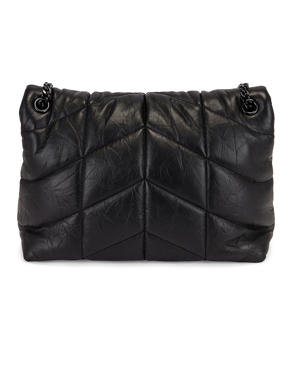 Image 3 of Saint Laurent Monogramme LouLou Bag in Black