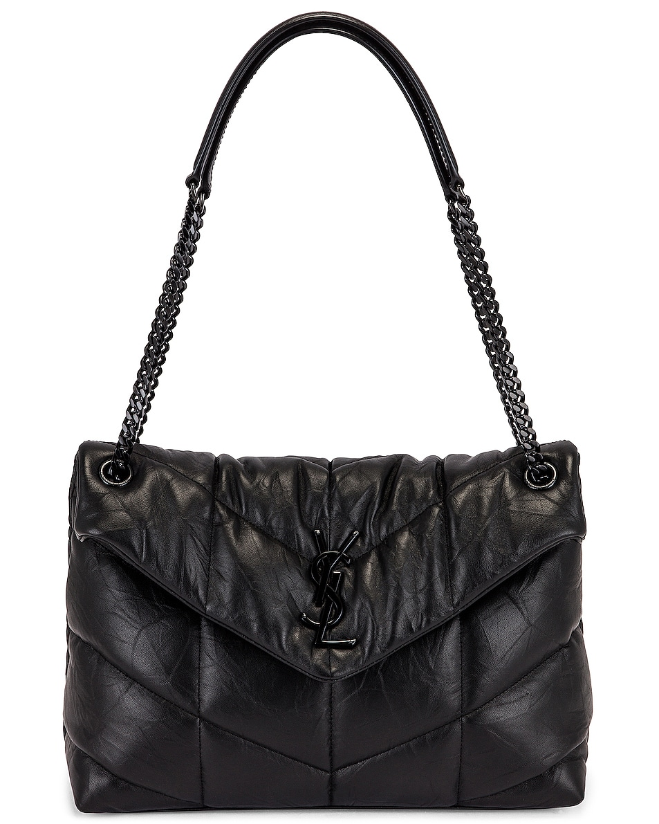 Image 6 of Saint Laurent Monogramme LouLou Bag in Black