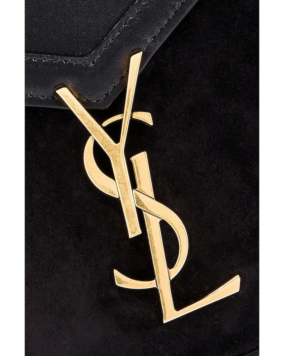 Image 2 of Saint Laurent Cassandra Monogramme Bag in Black & Rouge Legion
