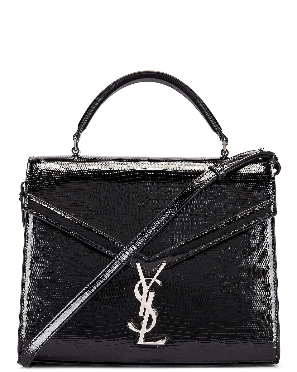 Image 1 of Saint Laurent Cassandra Monogramme Bag in Black & Rouge Legion