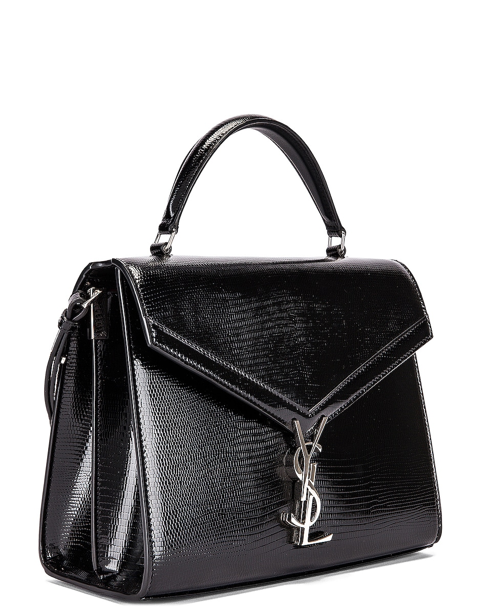 Image 4 of Saint Laurent Cassandra Monogramme Bag in Black & Rouge Legion