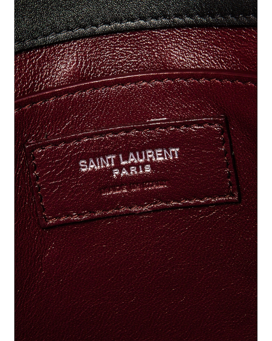 Image 7 of Saint Laurent Cassandra Monogramme Bag in Black & Rouge Legion