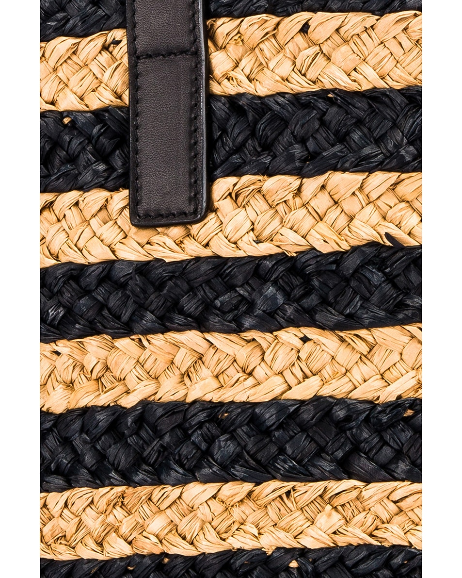 Image 2 of Saint Laurent Small Panier Raffia Bag in Natural & Black