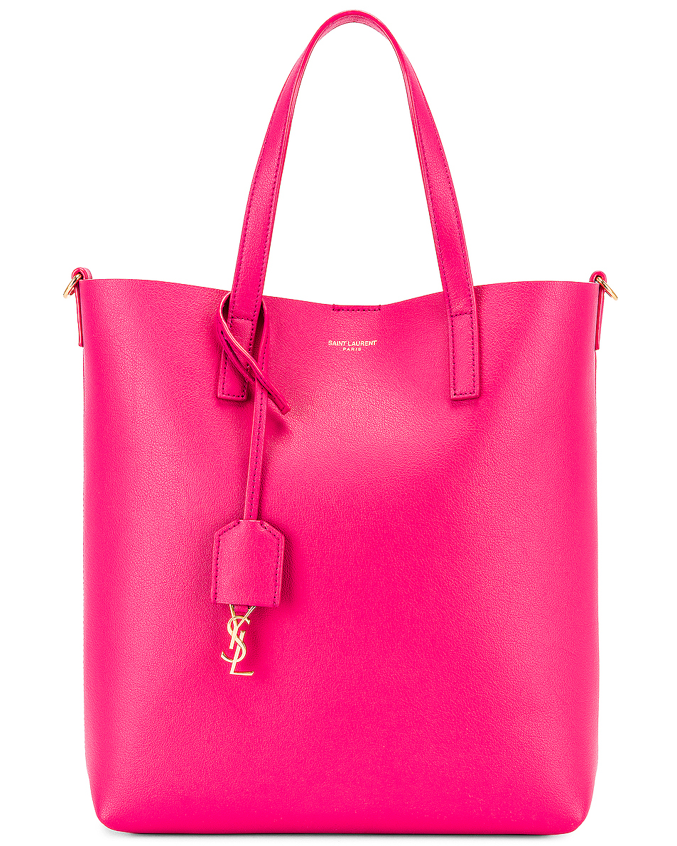 Image 1 of Saint Laurent Toy North South Tote Bag in Fresh Fuchsia