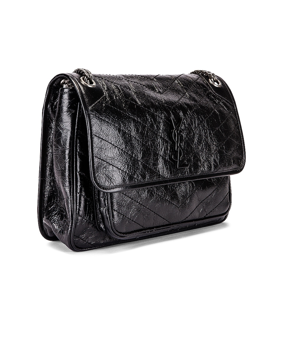 Image 3 of Saint Laurent Niki Monogramme Bag in Black