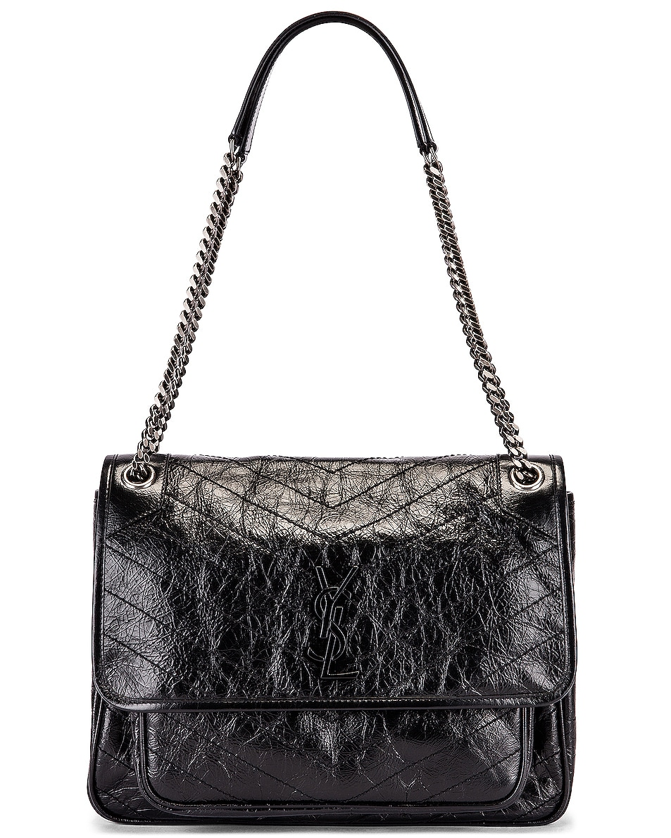 Image 5 of Saint Laurent Niki Monogramme Bag in Black