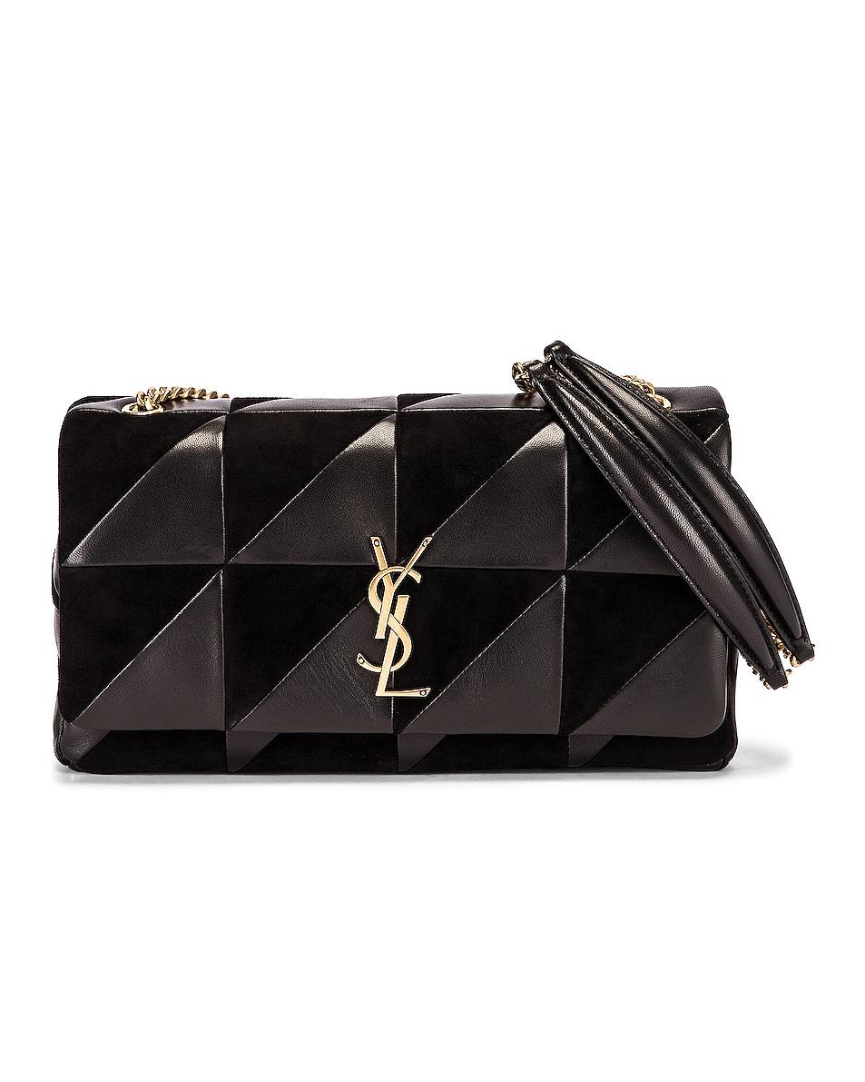 Image 1 of Saint Laurent Jamie Monogramme Bag in Black & Black