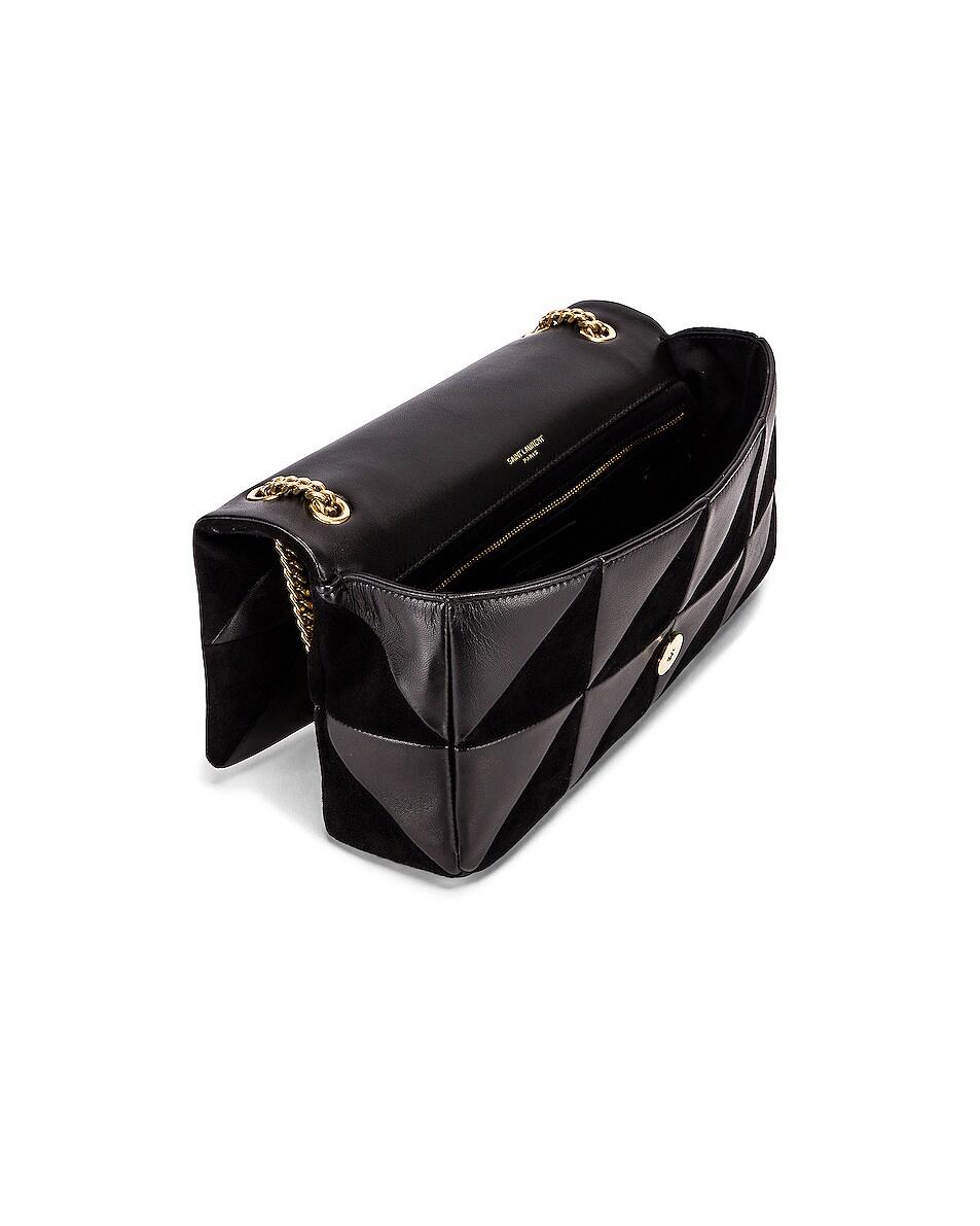 Image 5 of Saint Laurent Jamie Monogramme Bag in Black & Black