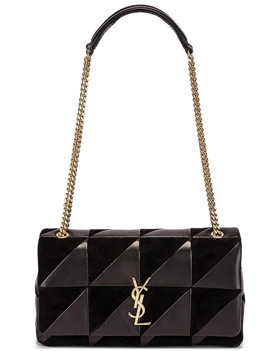 Image 6 of Saint Laurent Jamie Monogramme Bag in Black & Black