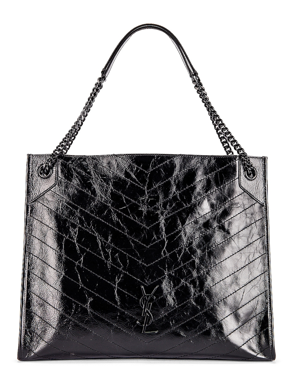 Image 1 of Saint Laurent Niki Monogramme Bag in Black