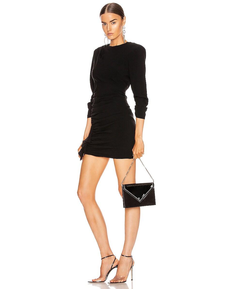 Image 2 of Saint Laurent 80s Chain Bag in Black & Crystal