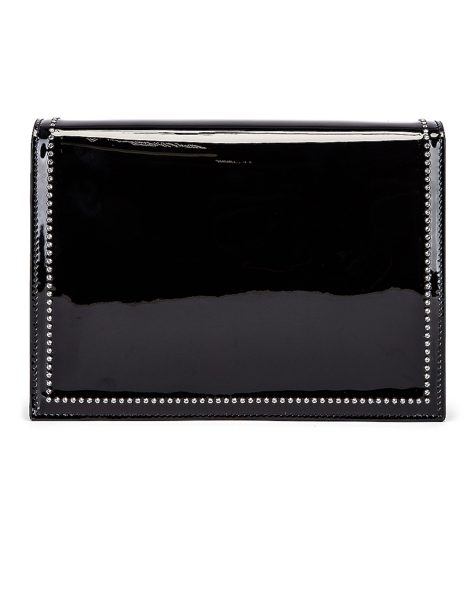 Image 3 of Saint Laurent 80s Chain Bag in Black & Crystal