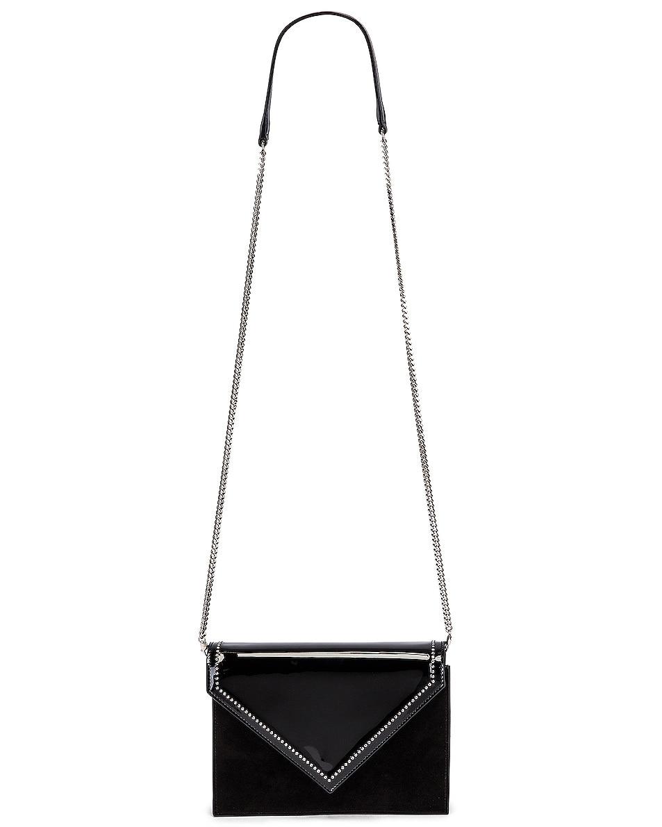 Image 6 of Saint Laurent 80s Chain Bag in Black & Crystal