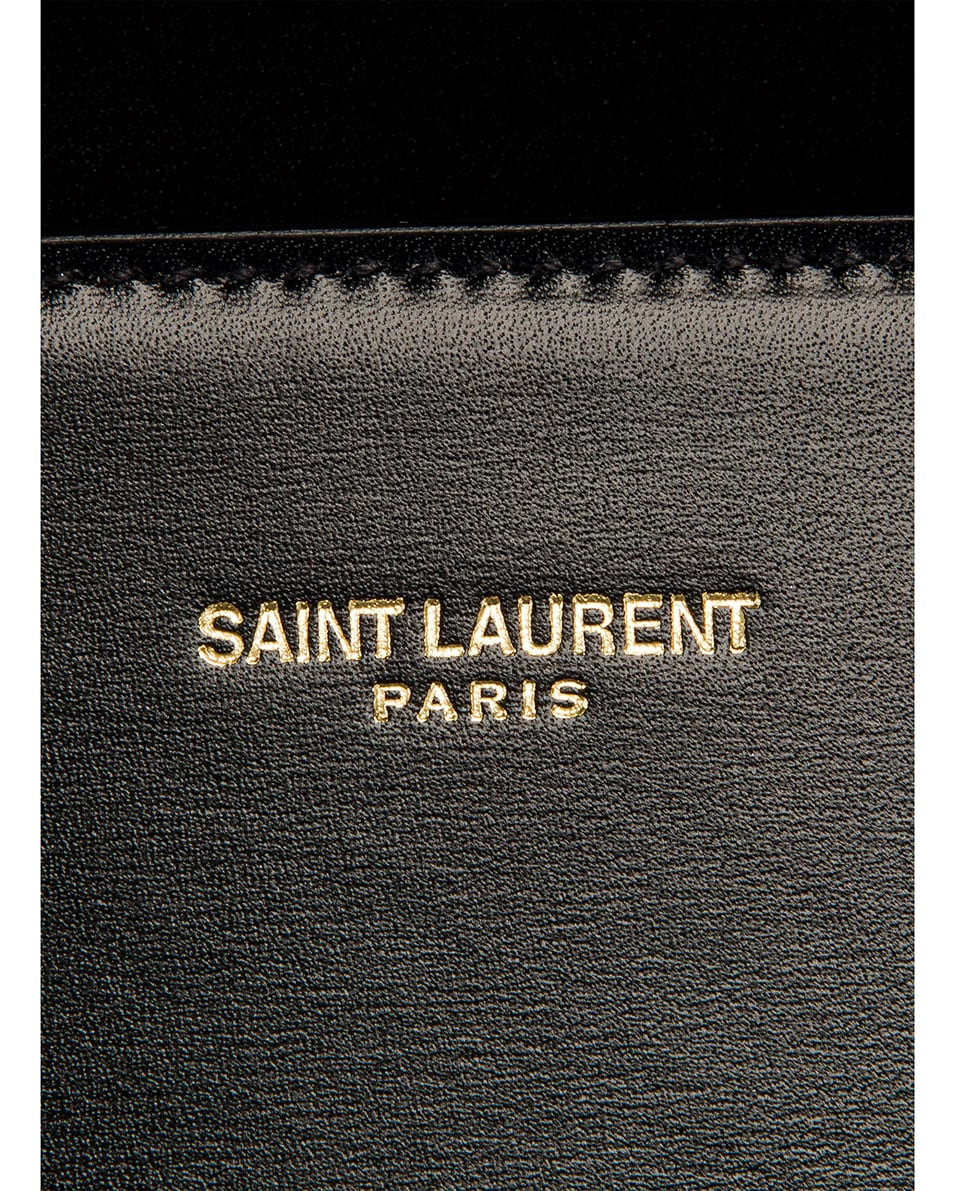 Image 7 of Saint Laurent Cassandra Monogramme Bag in Black & Rouge Legion