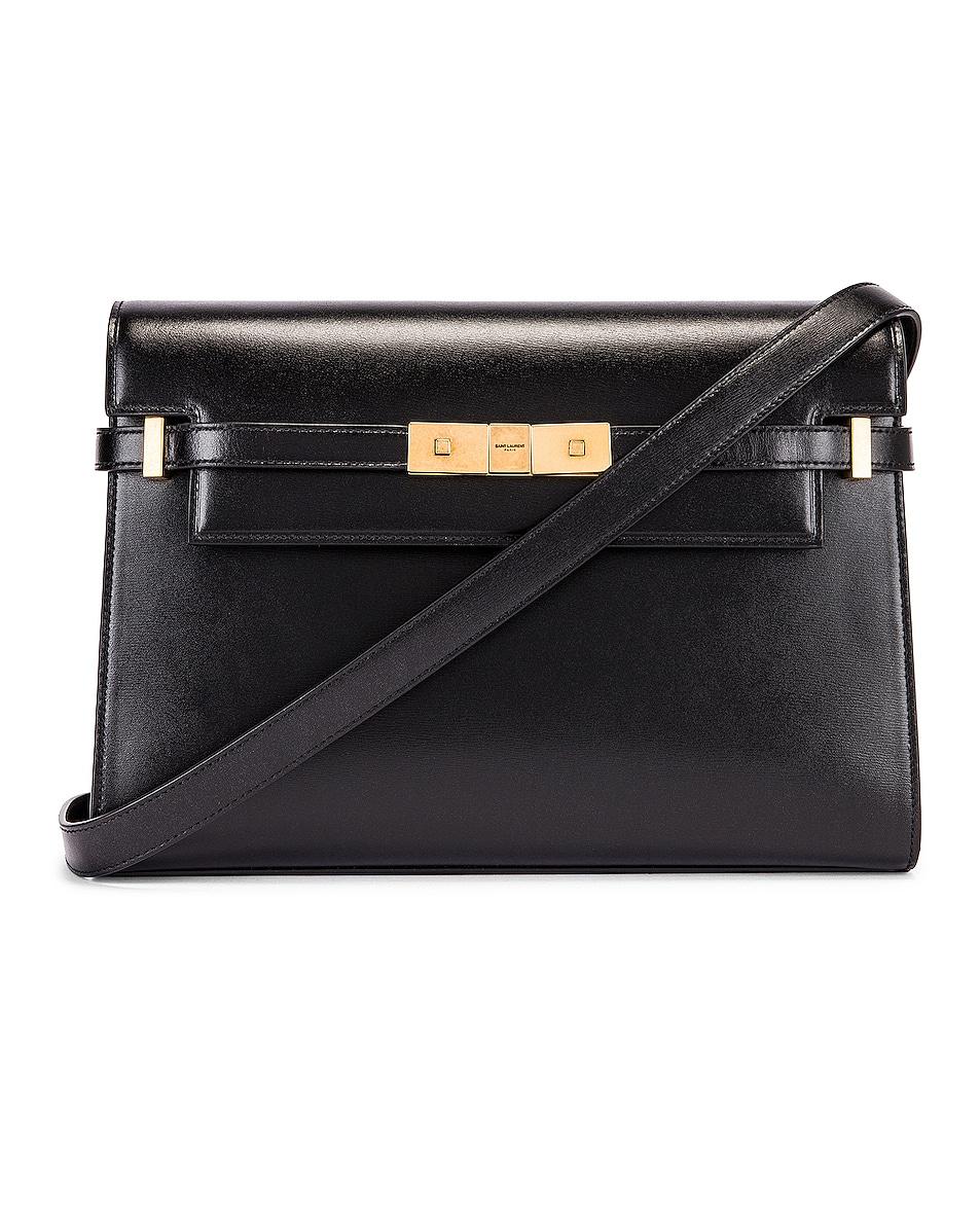 Image 1 of Saint Laurent Manhattan Shoulder Bag in Black