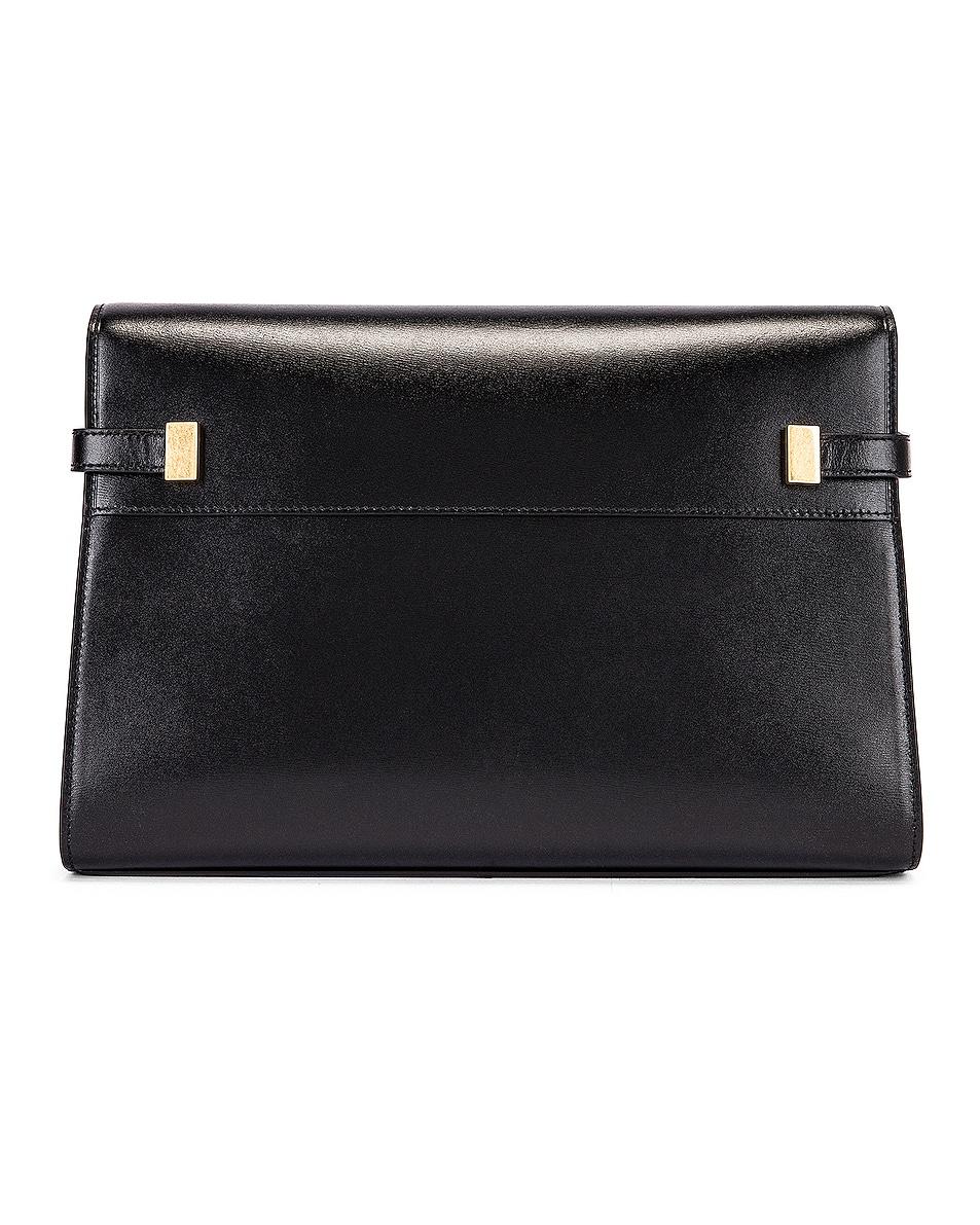 Image 3 of Saint Laurent Manhattan Shoulder Bag in Black