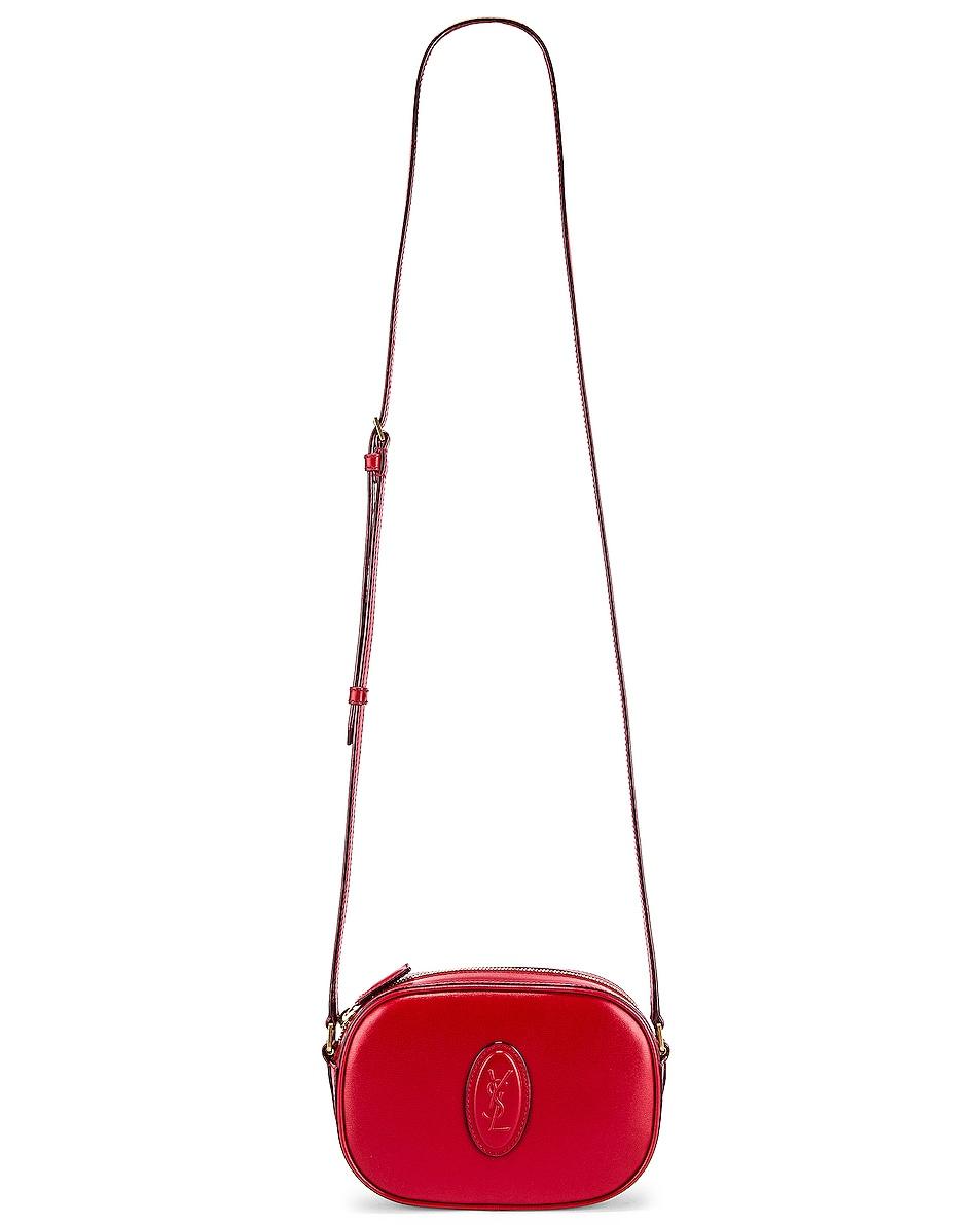 Image 2 of Saint Laurent Le 61 Camera Bag in Rouge Eros & Rouge Legion