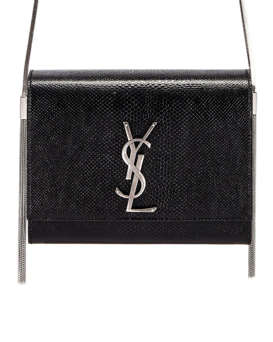 Image 1 of Saint Laurent Kate Boxy Bag in Black