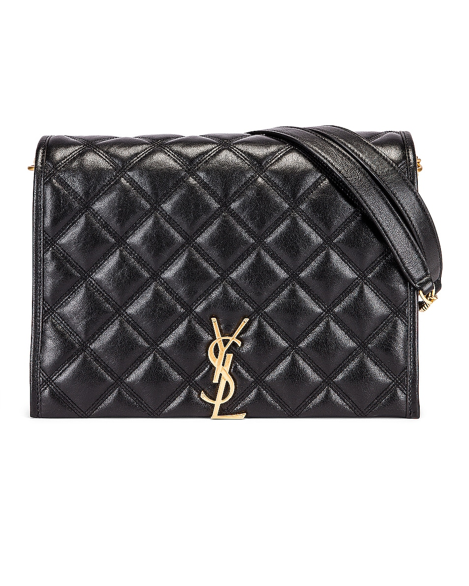 Image 1 of Saint Laurent Small Becky Bag in Black