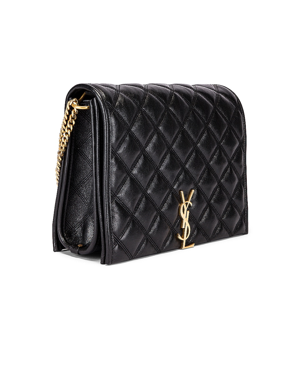 Image 3 of Saint Laurent Small Becky Bag in Black