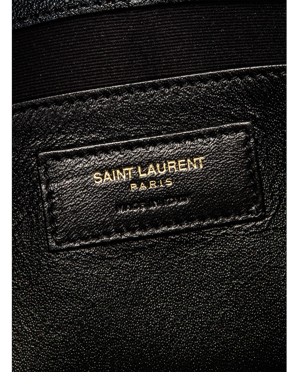 Image 6 of Saint Laurent Small Becky Bag in Black