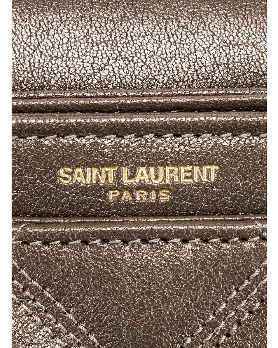 Image 7 of Saint Laurent Small Becky Bag in Concrete
