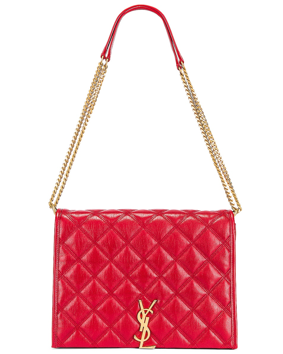 Image 1 of Saint Laurent Small Becky Bag in Rouge Eros