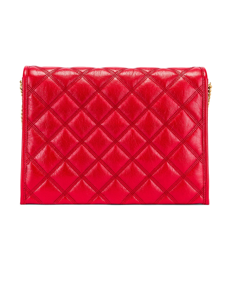 Image 3 of Saint Laurent Small Becky Bag in Rouge Eros