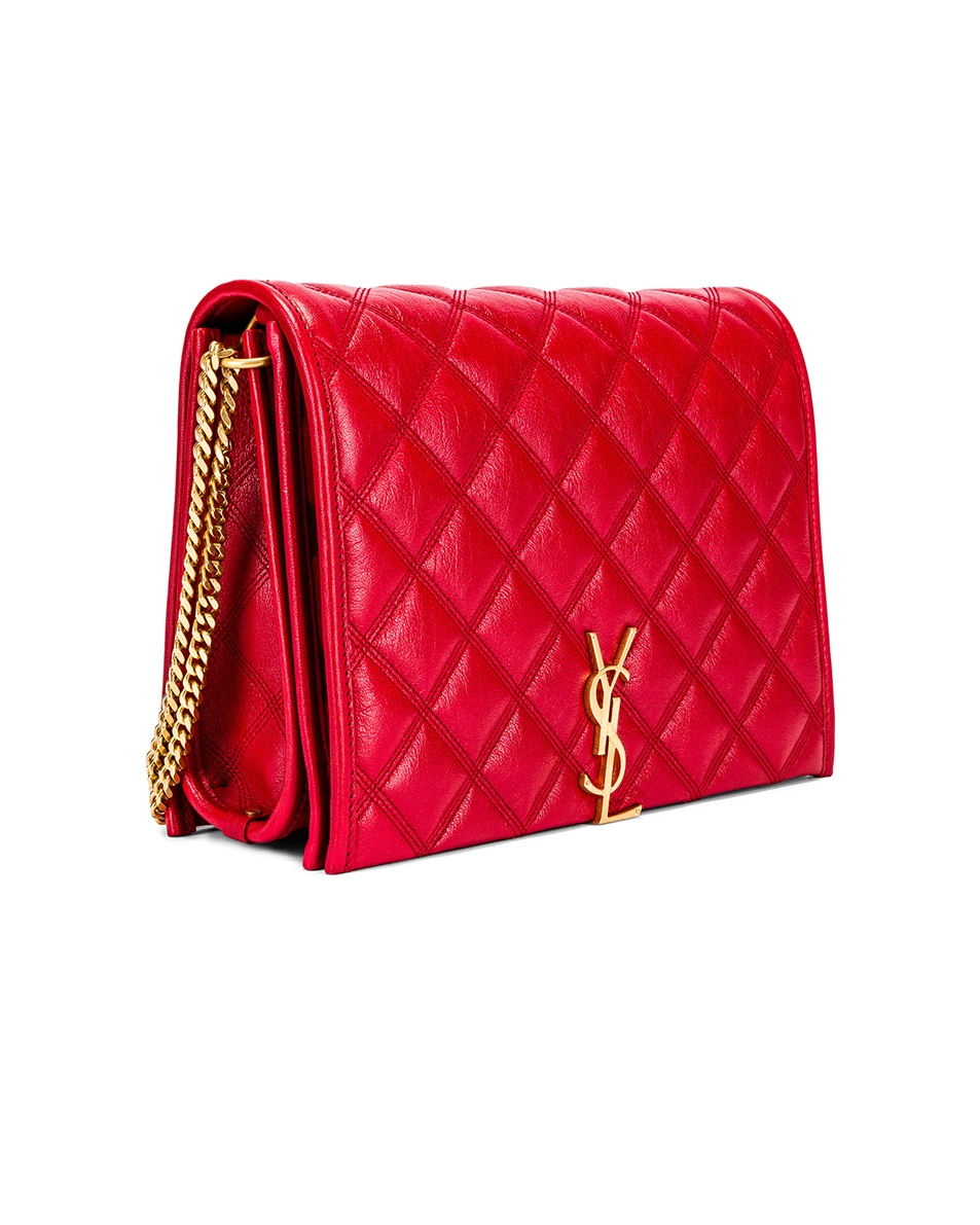Image 4 of Saint Laurent Small Becky Bag in Rouge Eros