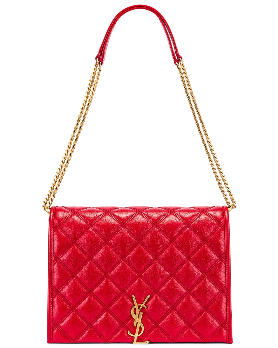 Image 6 of Saint Laurent Small Becky Bag in Rouge Eros